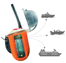 the nautilus lifeline radio allows communication with modern boats, yachts, and other marine vessels