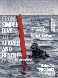 Dive Training magazine september october 2018 cover